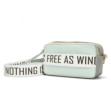 Personality text sports style cross body bag