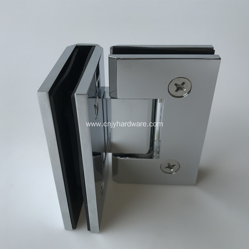 Quality Brass 90 Degree Glass to Glass Hinge