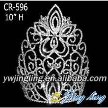 10 Inch Large Wholesale Rhinestone Pageant Crowns