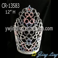 Customized for Pageant King Crowns Patriotic Crown Big Size export to United Arab Emirates Factory