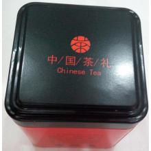 China for Tea Tin Box Red Colour TeaTin Box with Black lid export to Italy Factories