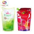 Custom Moisture Proof Liquid Pouch Bag With Spout