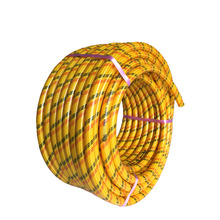 Yellow agriculture weaved spray hose pvc
