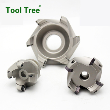 cnc lathe machining center indexable carbide face mills