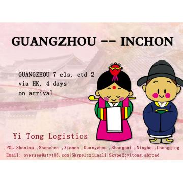 Guangzhou Sea Freight to Inchon