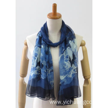 Coloured chiffon woven thin soft fashion ladies scarf