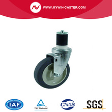 High Quality Medium Duty Retractable Casters With Side Brake