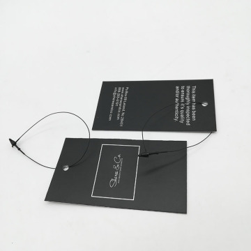 Black Light Luxury Hang Tag With String