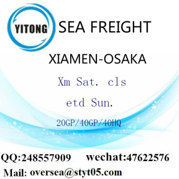Xiamen Port Sea Freight Shipping To Osaka