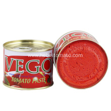 Easy open canned tomato paste