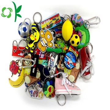 Keychains In Bulk Custom Cartoon Soft PVC Keyring