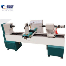 CNC wood rotating 3d carving lathe machine operation