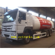 China for Gas Cylinder Filling Truck 24cbm 6x4 LPG Gas Filling Tank Trucks export to Cape Verde Suppliers