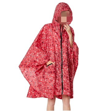 Buauty Unisex Hooded Zip up Rain Poncho