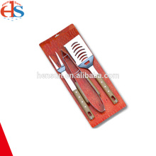 3PCS BBQ Utensils Tool Kit with Tie Card