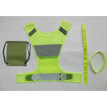 High Quality for High Visibility Reflective Vest Sport Clothing High-Viz Reflective Running Vest with bands supply to Dominica Importers