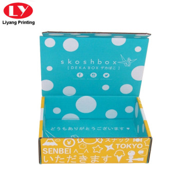 Colorful Printed Rigid Corrugated Shipping Box for Cloth