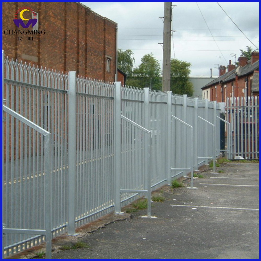 Easily Assembled Iron Palisade Fences Panels