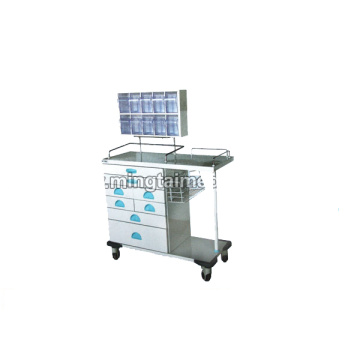 Portable anesthesia car with drawer