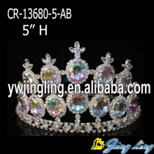 Mini AB Cheap Large Stone Pageant Crown