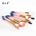 12 PCS Make-up Pinsel mit Kunststoffzylinder