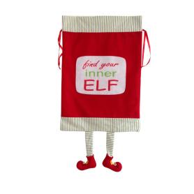 Christmas sack with 3D magic elf pattern