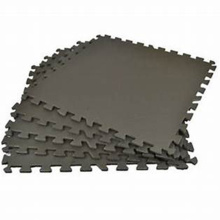 Interlocking gym rubber flooring tiles