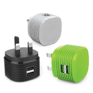 5V2.4A UK Plug Dual USB Phone Charger