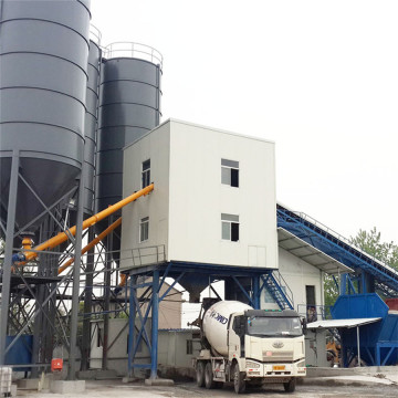 120m3 portable concrete batching plant in Canada