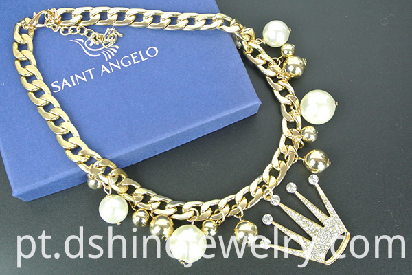 Crown Pearl Necklace