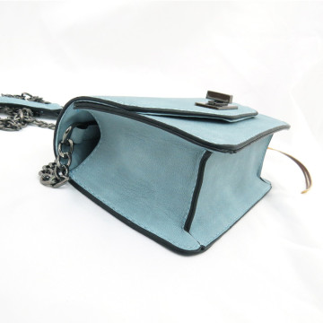 Leather simple chain shoulder bag