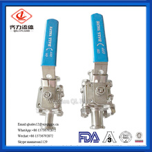 Stainless Steel High Platform Tri-clamped Three-Way Ball Valve