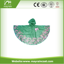PVC Adult Rain Poncho with Printing Logo