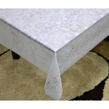 gold Printed pvc lace tablecloth by roll