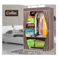 2 door bedroom Clothing Storage Portable Fabric Wardrobe Closet