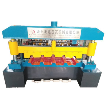 Trapezoidal colored single sheet roll forming machine