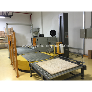 Conveyorized Fully Automatic Pallet Wrapping Machine
