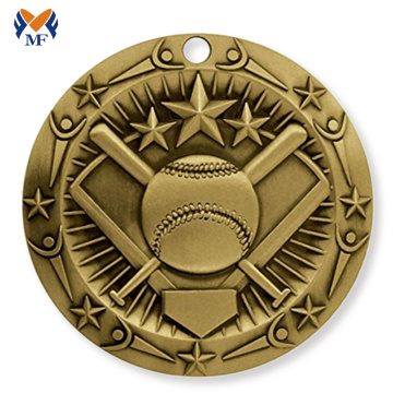 Personalized unique baseball cup medal