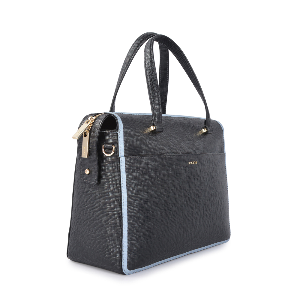 Genuine grain leather large capacity lady business bag