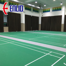 PVC badminton flooring mat with BWF