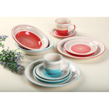 Stoneware 20 Piece Hand-painted Dinner Set
