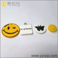 Custom pvc rubber zipper puller for clothing