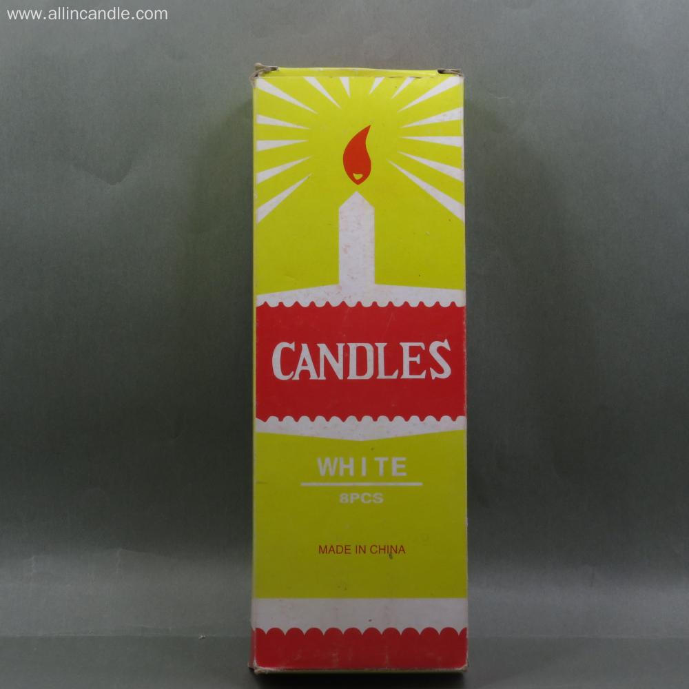 38g taobao White Candle for Diwali Diya Design