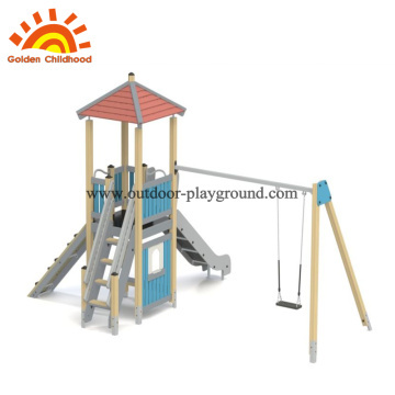 Hpl muti-funtion outdoor playground with swing