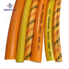 blue pvc transpartant agriculture use spray hoses