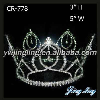 Wholesale Cheap Full Round Pageant Crowns And Tiaras