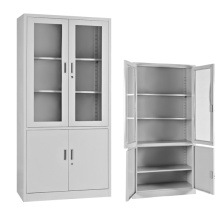 up glass door down metal door file cupboard