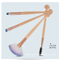 4 Piece Shell Cheap Makeup Brushes Sets