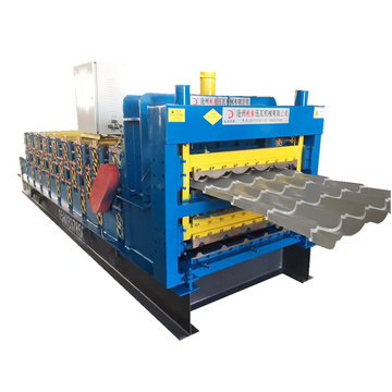 Portable metal roofing three layers roll forming machine