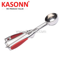 Stainless Steel Ice Cream Scoop with Silicone Grips